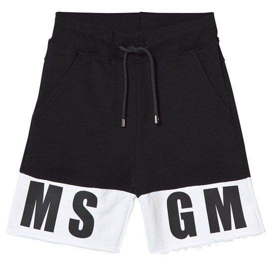 MSGM Black Branded Sweat Short 110