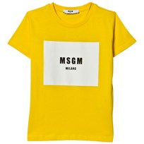 MSGM Yellow Branded Tee 020