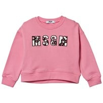 MSGM Pale Pink Beaded Logo Boxy Sweatshirt 042