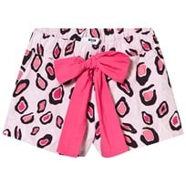 MSGM Pink Printed Shorts with Bow Tie 200