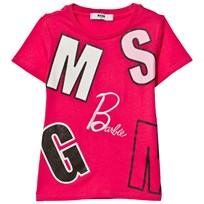 MSGM Fuchsia Logo and Barbie Tee 044
