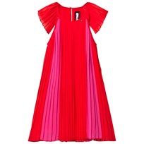 Relish Red and Pink Pleated Dress 360