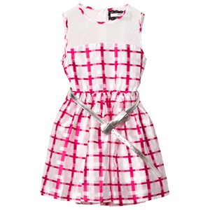 Image of Relish Pink and White Mesh Yoke Party Dress 10 years (2743759691)