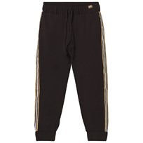 Relish Black Lightweight Track Pants with Glitter Trim 1000