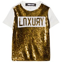 Relish Gold and Cream Sequin Top 410