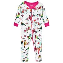 Hatley Cream Tropical Birds Print Babygrow White