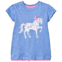 Hatley Blue Horse Applique Tee Blue