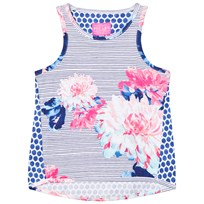Joules Blue Floral and Stripe Jersey Vest CHALK POSEY STRIPE