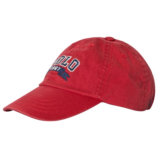 Ralph Lauren Red Polo Applique Cap 001