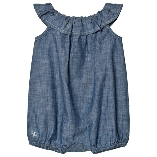 Ralph Lauren Blue Chambray Frill Bubble 001