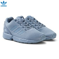 adidas Originals Blue Grey ZX Flux Kids Trainers TACTILE BLUE S17