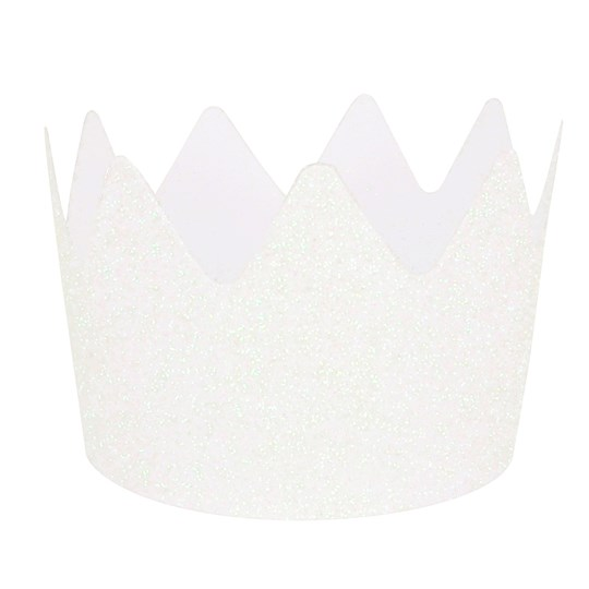My Little Day 8 Glitter Crowns - White White