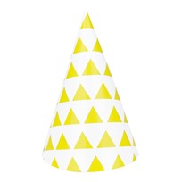 My Little Day 8 Party Hats - Yellow Triangles yellow triangles