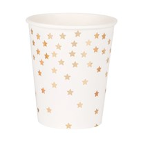 My Little Day 8 Paper Cups - Falling Gold Stars golden stars