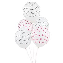 My Little Day 5 printed confetti balloons - bisou Bisou