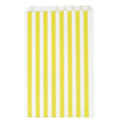 My Little Day 10 Paper Bags - Yellow Stripes