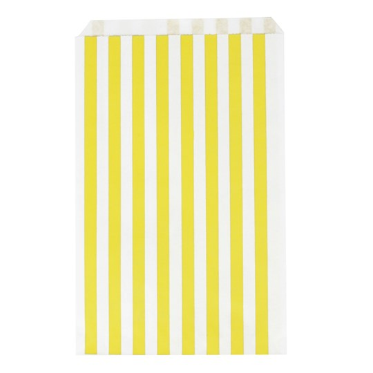 My Little Day 10 Paper Bags - Yellow Stripes Yellow Stripes