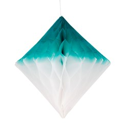 My Little Day Honeycomb Paper Diamond - Teal & White