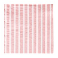My Little Day 20 Paper Napkins - Light Pink Stripes light pink stripes