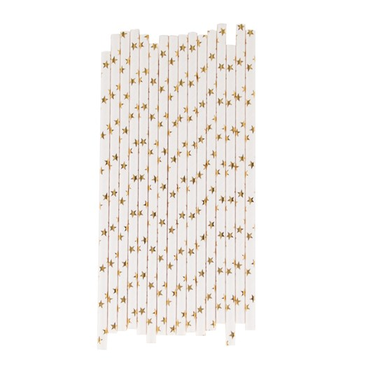 My Little Day 25 Paper Straws - Golden Stars golden stars