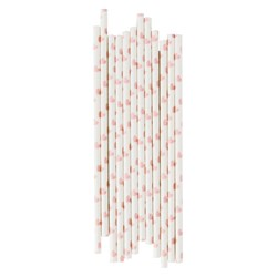 My Little Day 25 Paper Straws - Light Pink Hearts