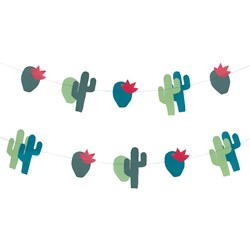 My Little Day Theme Paper Garland - Cactus