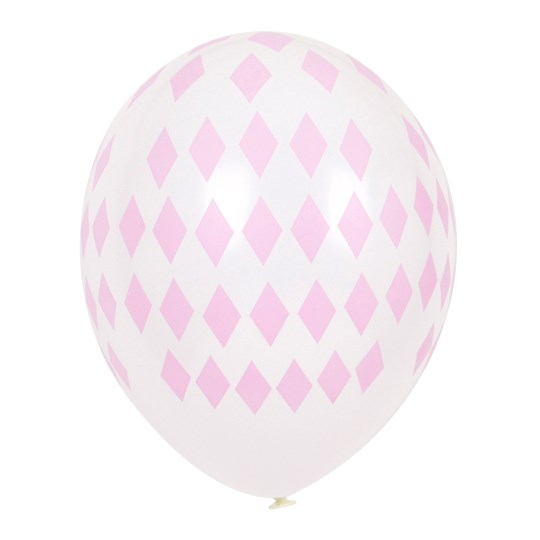 My Little Day 5 Printed Balloons - Light Pink Diamonds light pink diamonds
