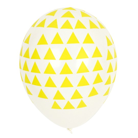 My Little Day 5 Printed Balloons - Yellow Triangles yellow triangles