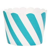 My Little Day 25 Baking Cups - Blue Diagonals blue diagonals