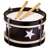 Kids Concept Drum Black Sort