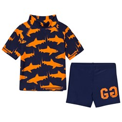 Gardner and the gang Two Piece UV Suit Orange Shark