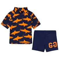 Gardner and the gang Two Piece UV Suit Orange Shark Oransje