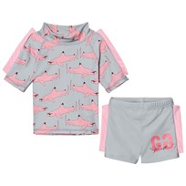 Gardner and the gang Two Piece UV Suit Pink Shark Pink