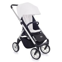EasyWalker Mini Stroller Silver with White Wheels Silver