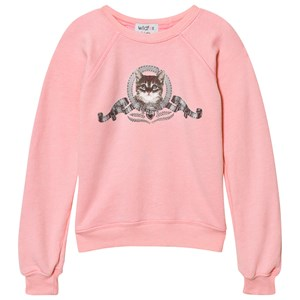 Image of Wildfox Pink Silver Screen Kitten Sweater 4 years (2743789175)