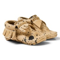 Mini Mocks Mockasin Vaktel Beige Black Splash