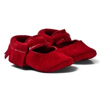 Mini Mocks Cherry Sandal Red Suede