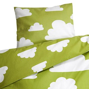 Image of Färg & Form Bed Set Cloud for Crib Green (2953630837)