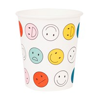 My Little Day 8 Paper Cups - Smiley happy faces