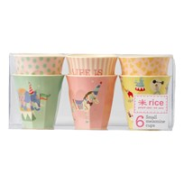 Rice Small Melamine Cup Set Circus Print Rosa