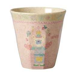 Rice Small Bamboo Melamine Cup Girls Cooking Print