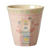 RICE A/S Small Bamboo Melamine Cup Girls Cooking Print Girls Cooking