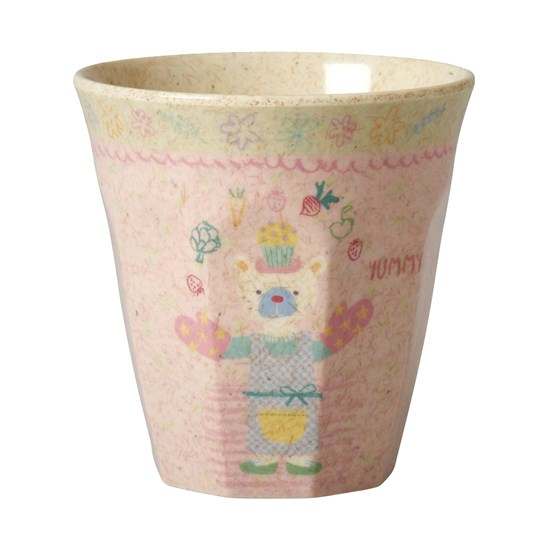 Rice Small Bamboo Melamine Cup Girls Cooking Print Girls Cooking