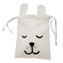 Tellkiddo Bunny Small Fabric Bag White