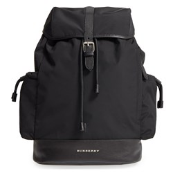 Burberry Black Nylon Changing Backpack with Changing Mat