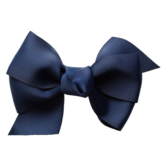 Prinsessefin Julia Large Hair Clip with Bow Navy Laivastonsininen