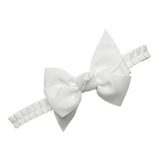 Prinsessefin Anne Grethe Headband with a Bow Off White Off white