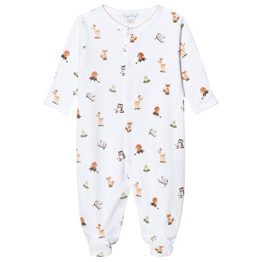 Kissy Kissy White Animal Print Jersey Footed Baby Body WH