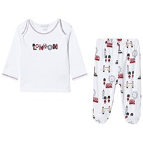 Kissy Kissy White London Landmarks Print Jersey Set WH