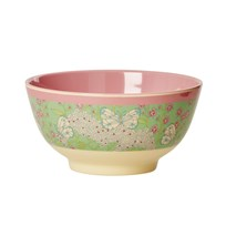 Rice Melamine Bowl Butterfly Print Butterfly